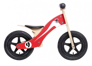 Rebel Kidz Balance Bike BASIC Retro Racer 12'' Rouge