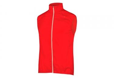 veste coupe vent sans manches endura pakagilet ii rouge l