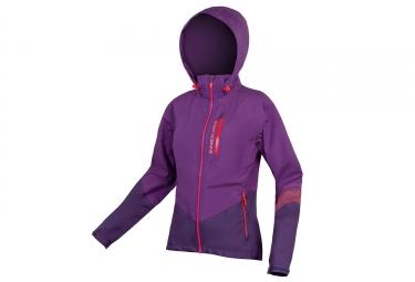 Veste impermeable femme endura singletrack ii violet s