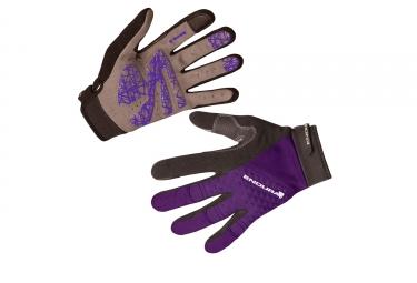 gants longs femme endura hummvee plus violet s