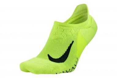 paire de chaussettes nike dry elite cushion jaune 38 40