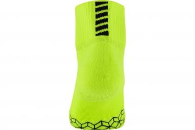 paire de chaussettes nike elite cushion jaune 38 40