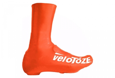 velotoze couvres chaussures haut t vor 007 latex orange 43 46