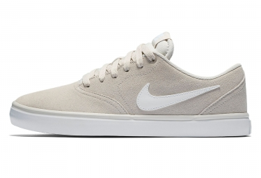 Chaussures Nike SB Check Solarsoft Beige Blanc