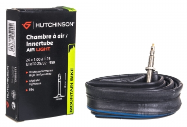 Chambre a air hutchinson air light 26 presta 48 mm 1 00 1 25