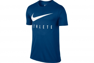 maillot homme nike dry swoosh athlete training bleu xl
