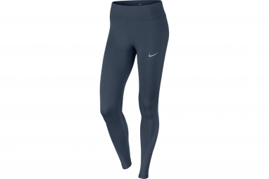 collant long femme nike power bleu l