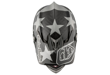 Casco Integral Troy Lee Designs D3 Carbon Freedom Argent / Noir