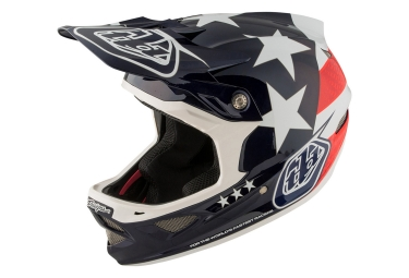 Casque integral troy lee designs d3 carbon freedom mips bleu rouge 2017 m 56 57 cm