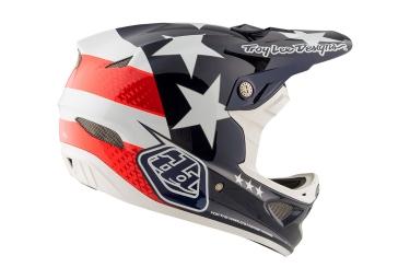 Troy Lee Designs D3 Carbon Freedom Mips Helmet Blue Red