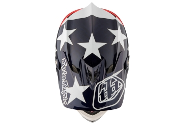 casque integral troy lee designs d3 carbon freedom mips bleu rouge 2017 s 54 55 cm