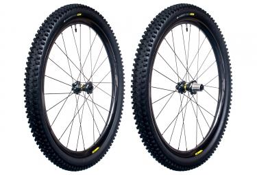 Paire de roues mavic xa pro carbon wts 27 5 15mm 12x142mm shimano sram quest pro 2 4