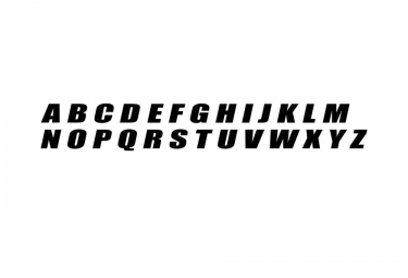 Lettres pour Plaque BMX Rad Parts Noir 6.5 cm