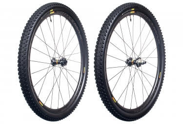 paire de roues mavic 2017 crossmax pro carbon wts 29 boost 15x110 mm 12x148 mm corps xd pneu pulse 2 25