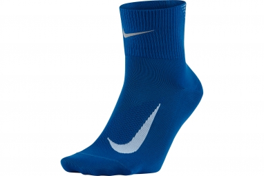 chaussettes nike elite cushion quarter bleu 38 41