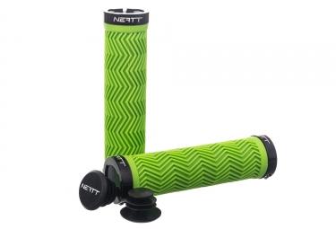Neatt Grips Lock On Neon Green