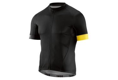 maillot manches courtes skins cycle classic homme noir jaune s