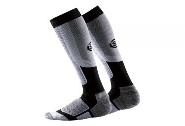chaussettes de compression femme skins essentials thermal active gris noir s