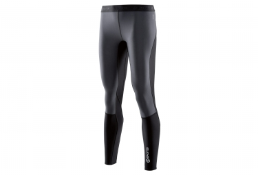 collant long femme skins dnamic thermal noir s