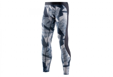 Collant long skins dnamic gris bleu m