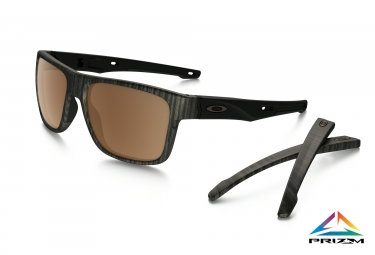 lunettes crossrange oakley woodgrain marron prizm polarized ref oo9361 0757