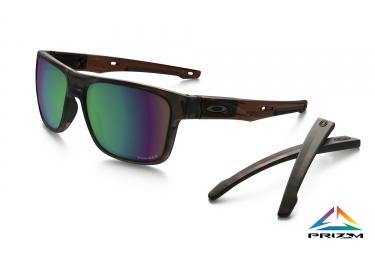 lunettes crossrange oakley marron prizm shallow water polarized ref oo9361 1057
