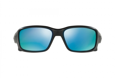 Lunettes Oakley Straighlink Noir - Bleu Prizm Deep Water Polarized Réf OO9331-05