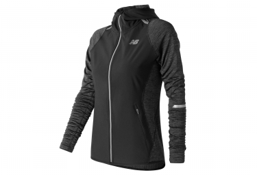 Chaqueta de mujer New Balance Heat Run Black