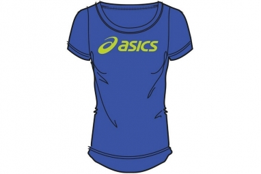 Asics logo tee 122863 8091 unisexe t shirt bleu s