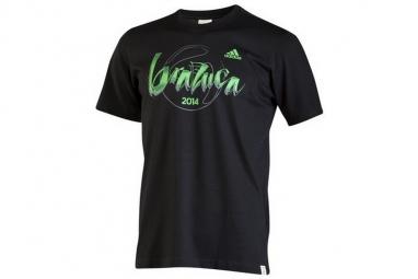 T shirt adidas brazuca tee f77043 homme t shirt noir s