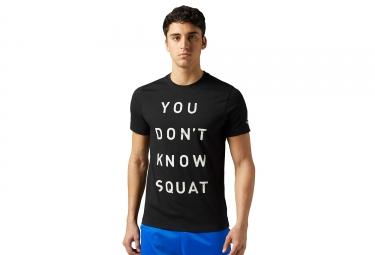 Maillot reebok crossfit dont know squat noir s