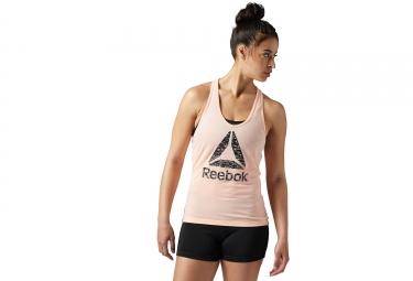 Debardeur femme reebok workout ready supremium 2 0 rose m