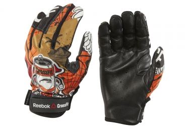 gants reebok crossfit competition orange noir m