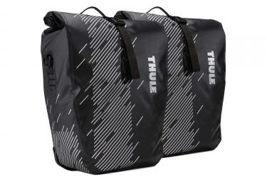 Paire de sacoches de porte bagage thule shield large noir