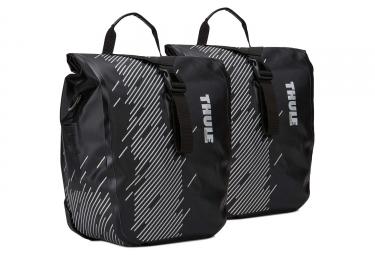 paire de sacoches de porte bagage thule shield small noir
