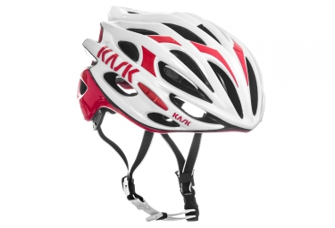 Casque kask mojito blanc rouge m 48 58 cm