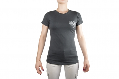Image of T shirt femme lb heart unchained gris fonce xl