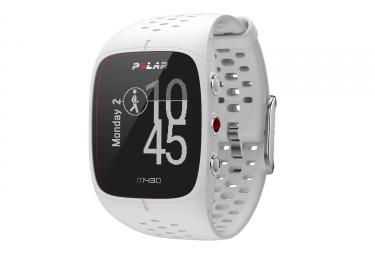 polar montre m430 gps blanc