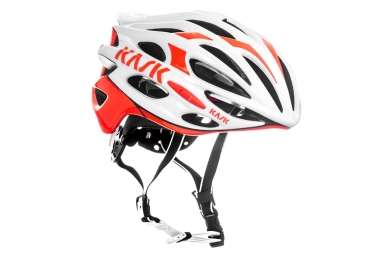 casque kask mojito blanc orange l 59 62 cm