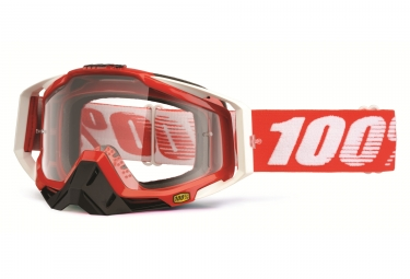 masque 100 racecraft fire rouge ecran transparent