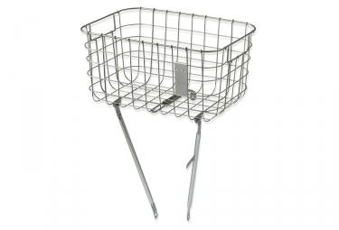 Basil Robin Front Basket Silver