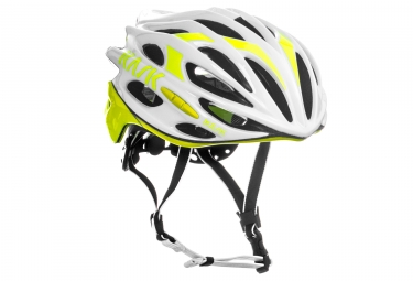 casque kask mojito blanc jaune fluo l 59 62 cm