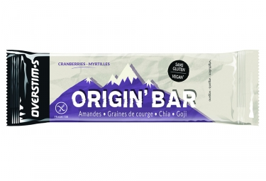 Overstims Origin' Bar Energy Bar Cranberries Blueberries