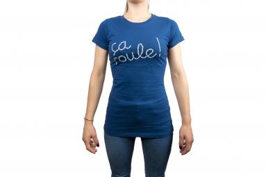 Maglietta LeBram Ça Roule Blu da Donna