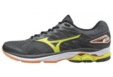 mizuno wave rider 20 noir orange jaune 45