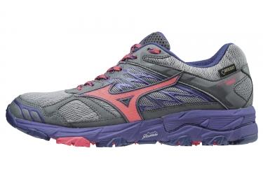 Chaussures de Trail Femme Mizuno Wave Mujin 4 GTX Gris / Violet