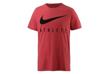 maillot homme nike dry swoosh athlete training rouge m