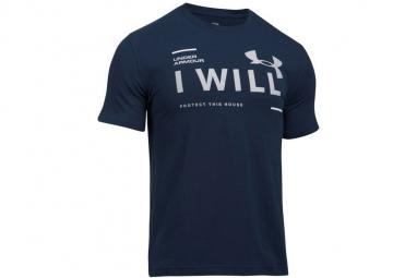 Ua i will ss tee 1297961 410 homme t shirt bleu xs