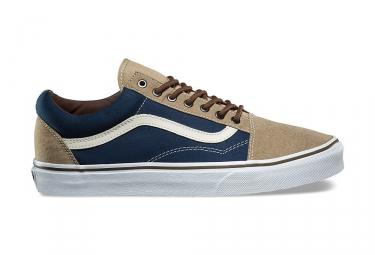 Chaussures vans old skool beige bleu 45
