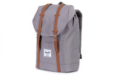 HERSCHEL Retreat Backpack 19.5L Grey / Tan Synthetic Leather